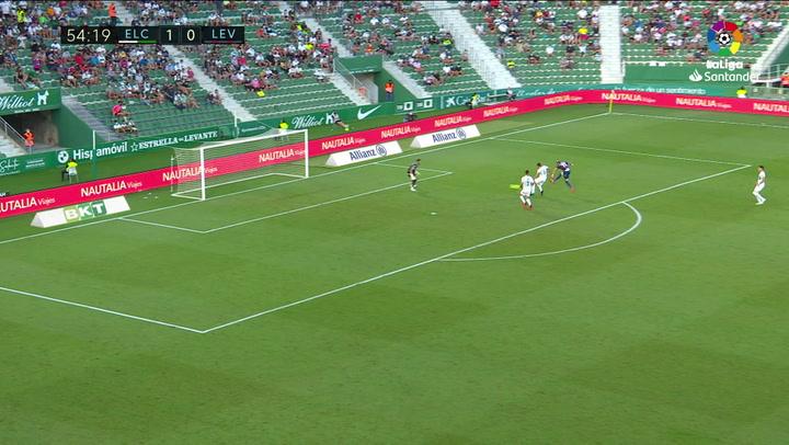 Gol de Morales (1-1) en el Elche 1-1 Levante