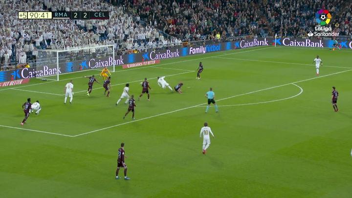 El Madrid pidió penalti de Olaza a Ramos en el descuento