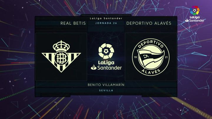LaLiga Santander (Jornada 26): Betis 3-2 Alavés