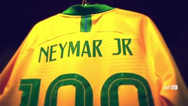 Neymar celebró así su partido número 100 con la 'canarinha'