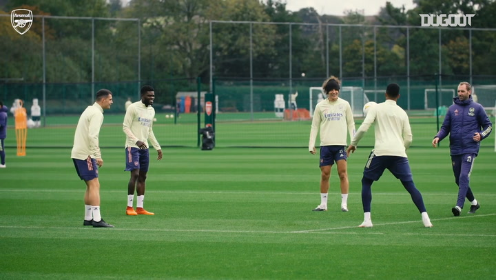 Thomas Partey impresses in training ahead of Europa League clash