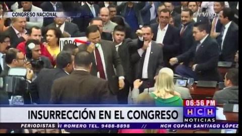 Nuevo zafarrancho en el Congreso Nacional de Honduras