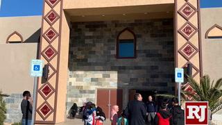 Masjid Ibrahim Islamic Center art depicts names of God