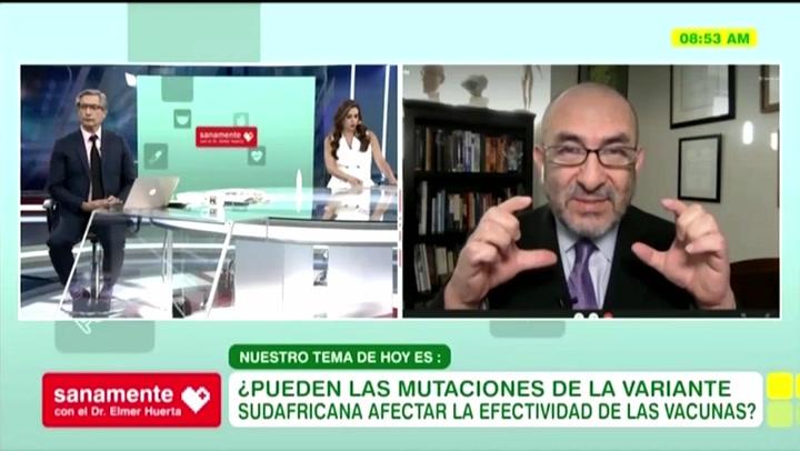 """""""La mascarilla es equivalente al condón"""", asegura el doctor Elmer Huerta"""