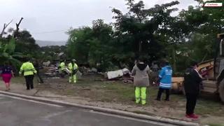 Caos en desalojo en los bordos de río Blanco de San Pedro Sula