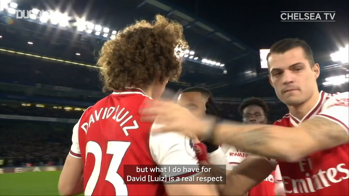 Frank Lampard on his respect for David Luiz ahead of the 2020 FA Cup Final