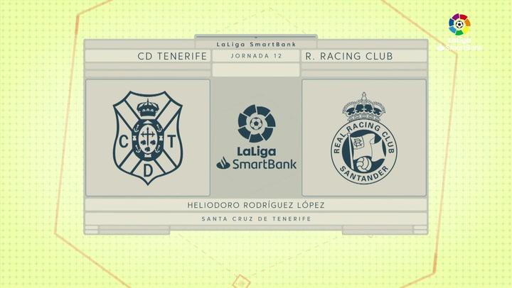 LaLiga SmartBank (J12): Resumen y goles del Tenerife 3-3 Racing