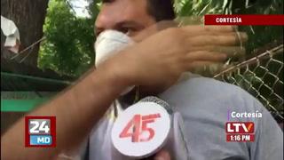 Ciudadanos se pelean por el oxígeno para sus familiares en Hospital del Sur en Choluteca