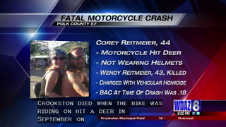Man charged with vehicular homicide in Polk County motorcycle crash