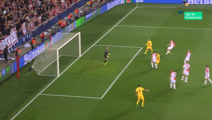 Champions League: Slavia Praga - Barça. Gol de Lionel Messi (0-1)