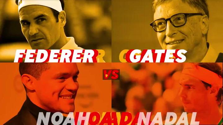Nadal y Federer, protagonistas en el partido de tenis solidario 'The Match in Africa'
