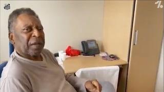 ¡Realmente conmovedor! Pelé canta el himno del Santos desde los más íntimo del hospital.