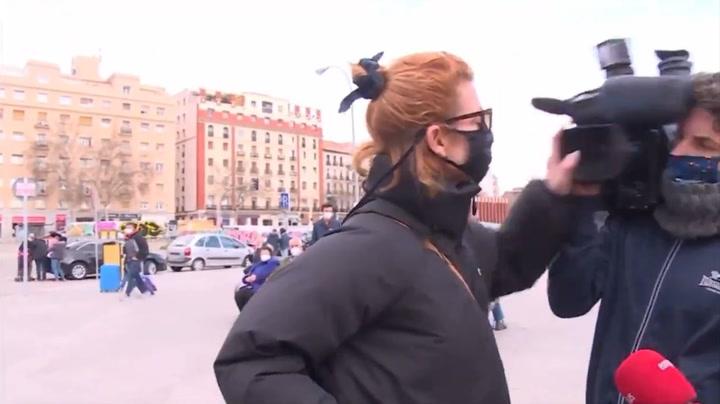 Najwa Nimri agrede a un cámara de televisión