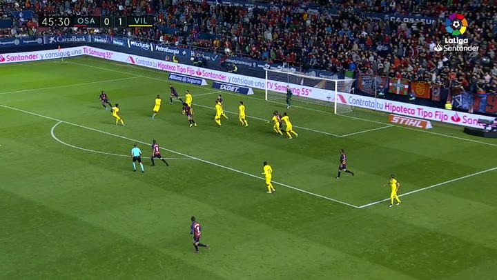 Gol de Roncaglia (1-1) en el Osasuna 2-1 Villarreal