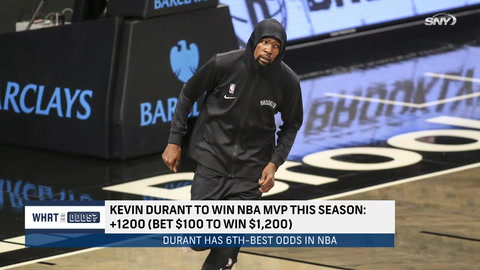 What are the odds that Kevin Durant makes a run at MVP this season?