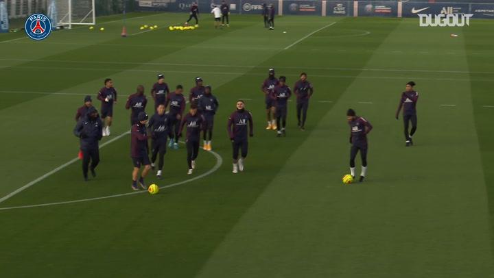 Paris Saint-Germain's last training session before AS Monaco clash