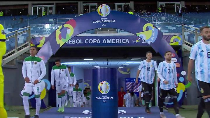Resumen del Bolivia 1 - 4 Argentina de la Copa América 2021