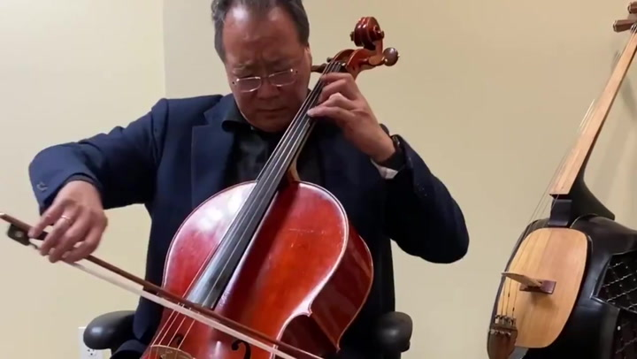 Yo-Yo Ma performs moving Bach piece to 'comfort' India during Covid crisis