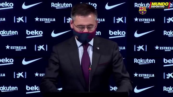 Así ha sido la rueda de prensa de dimisión de la Junta Directiva de Josep María Bartomeu