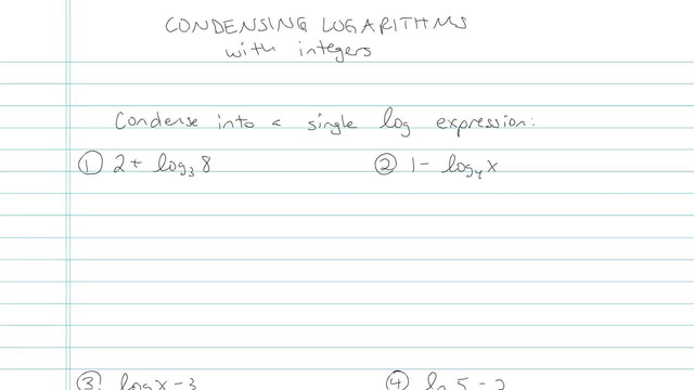 Condensing Logarithms - Problem 6