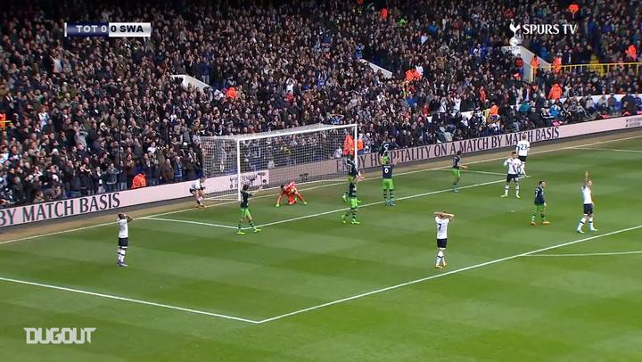 Spurs sink Swansea City at White Hart Lane