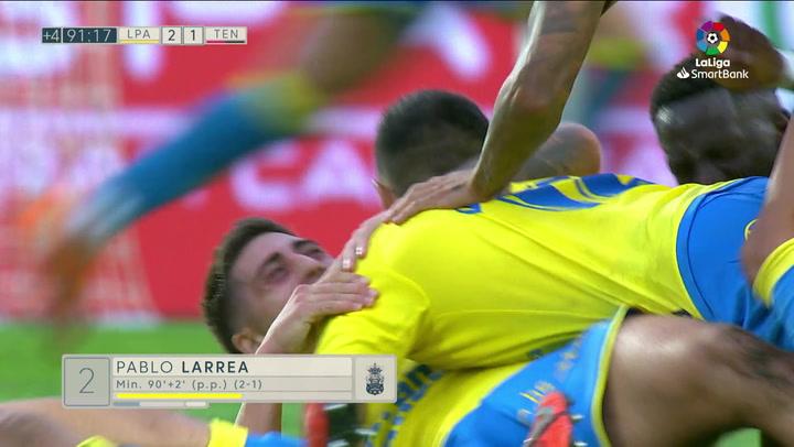 Gol de Lemos (2-1) en el Las Palmas 2-1 Tenerife