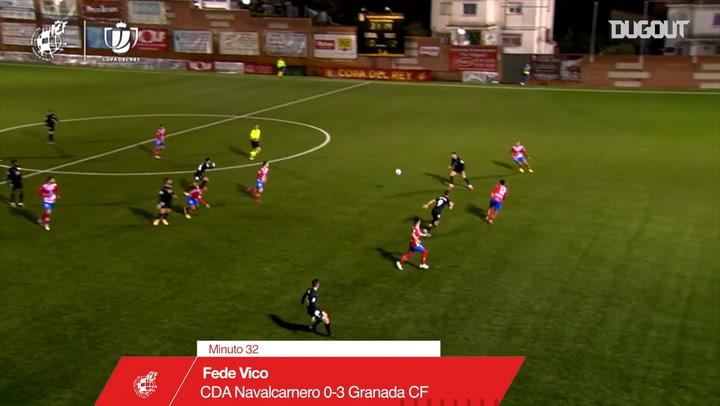 Fede Vico's great half-volley goal vs Navalcarnero