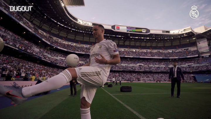 EDEN HAZARD IS UNVEILED AS A REAL MADRID PLAYER