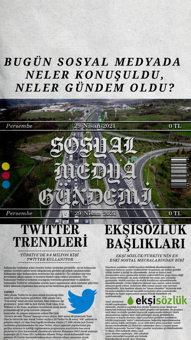 Sosyal medyayı sallayanlar - 29 Nisan