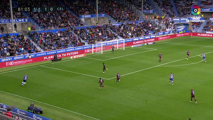 Gol de Lucas Pérez (2-0) en el Alavés 2-0 Celta