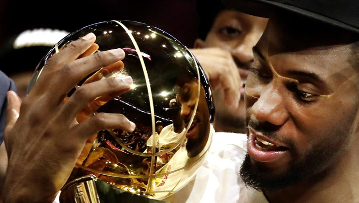 Kawhi Leonard, elegido MVP de la final NBA