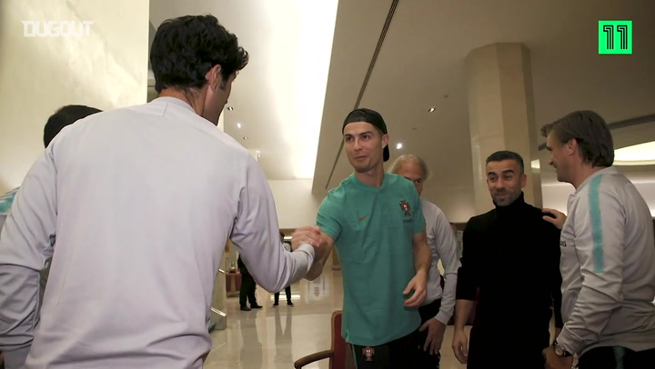 Cristiano Ronaldo and the Portugal squad arrive for international duty