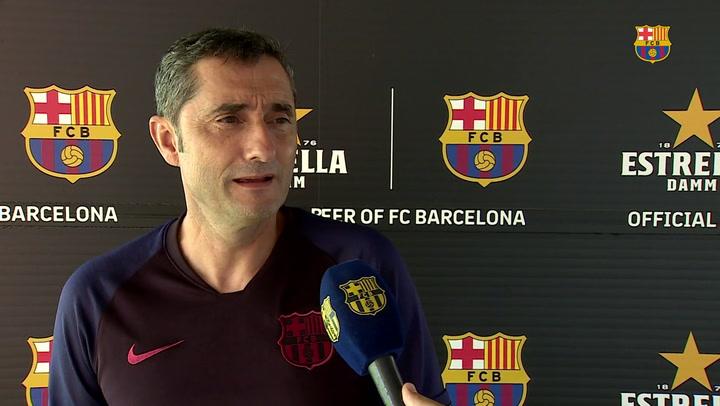 """Valverde: """"Queremos ganarlo todo y lo tenemos que hacer con nuestro estilo"""""""