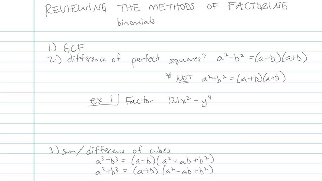 Review of the Methods of Factoring - Problem 11