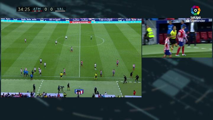 Gol de Diego Costa (p.) en el Atlético 1-1 Valencia