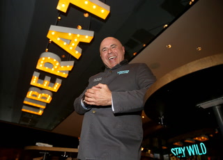 Tony Abou-Ganim mixes drink at Libertine Social