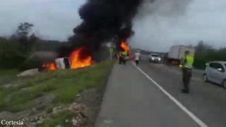 Siete muertos por explosión de camión cisterna en Colombia
