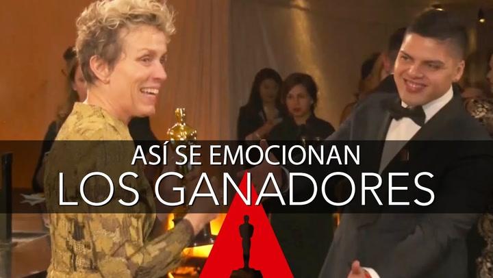 La emoción de los ganadores de los Oscar tras la ceremonia