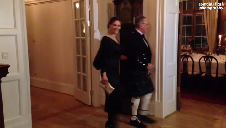 Swedish Royal Tour: Prince William and Catherine arrive for dinner