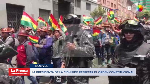 La Presidenta Del Cidh Pide Respetar El Orden Constitucional
