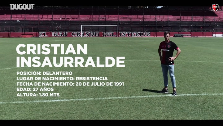 Cristian Insaurralde Unveiled As A Newell's player