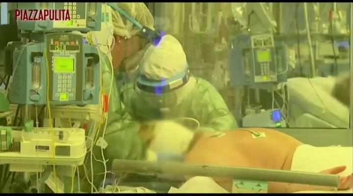 Sobrecogedoras imágenes de como cuidan a enfermos del Covid-19 en un hospital de Italia