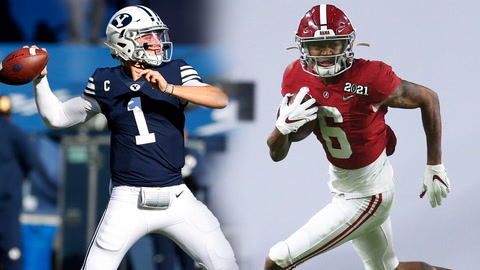 What are the odds Jets and Giants draft Zach Wilson and DeVonta Smith?