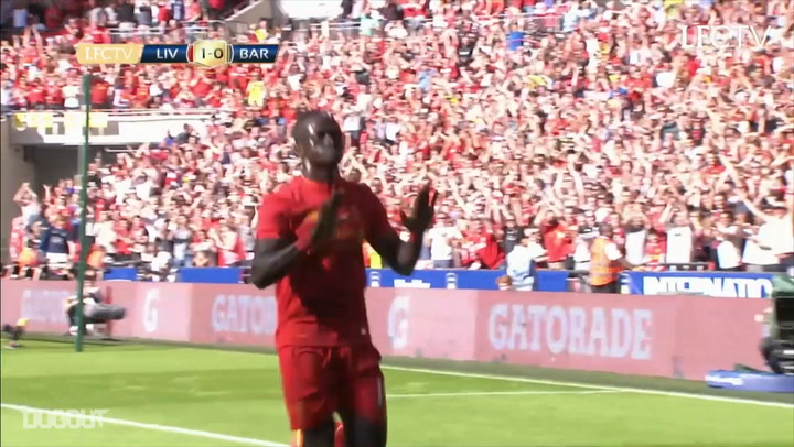 Throwback: Mane Opens Account As Liverpool Beat Barcelona 4-0