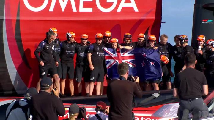 El Team New Zealand suma la séptima victoria ante el Luna Rossa y revalida la Copa América