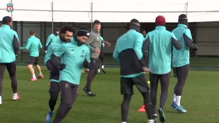 Mohamed Salah and the Liverpool squad prepare for Atlético fixture