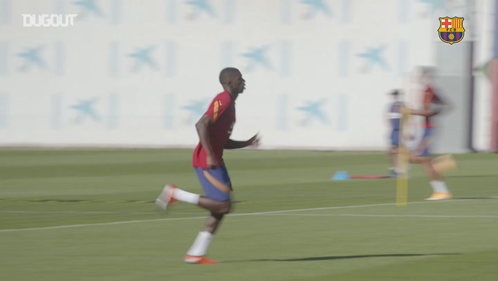 Barça's first training session of the Ronald Koeman era