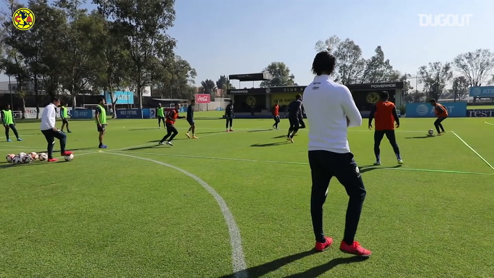 América continue preparing for game vs Monterrey with intense training session