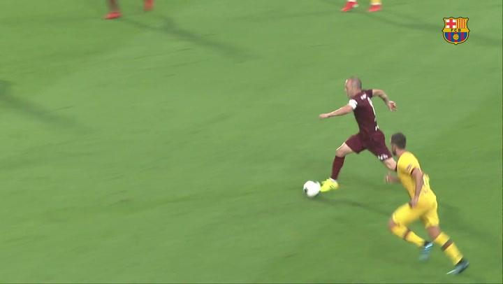 Así fue el partido de Andrés Iniesta contra el Barça