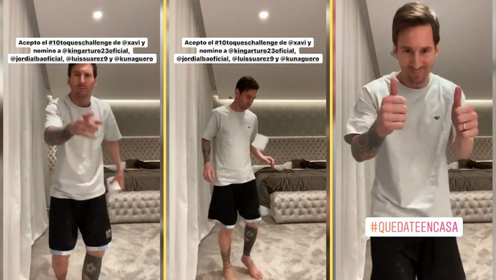 Messi responde al #10ToquesChallenge